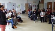 Une vingtaine de personnes représentant des Centres Sociaux de la Loire Atlantique et du Maine et Loire se sont retrouvés au Centre de L'Allée Verte pour une présentation du projet I-CARE